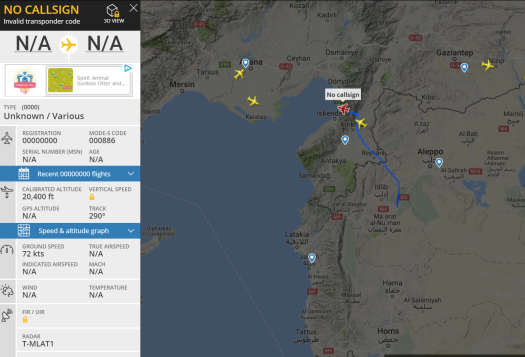 Drone over Syria wTracking